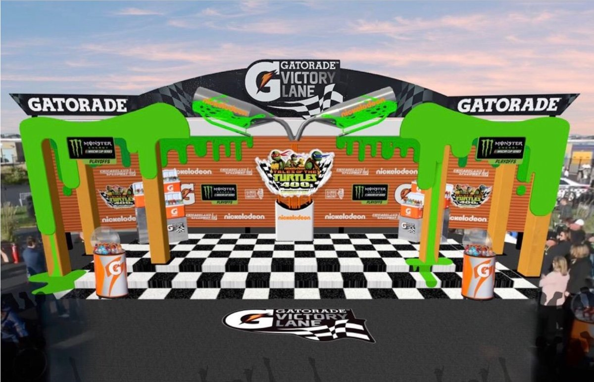 Nickelodeon will slime nascar winners in victory lane at chicagoland races