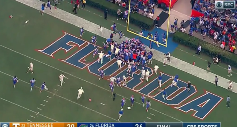 Florida pulled off this nutty Hail Mary to beat Tennessee 26-20 Saturday.