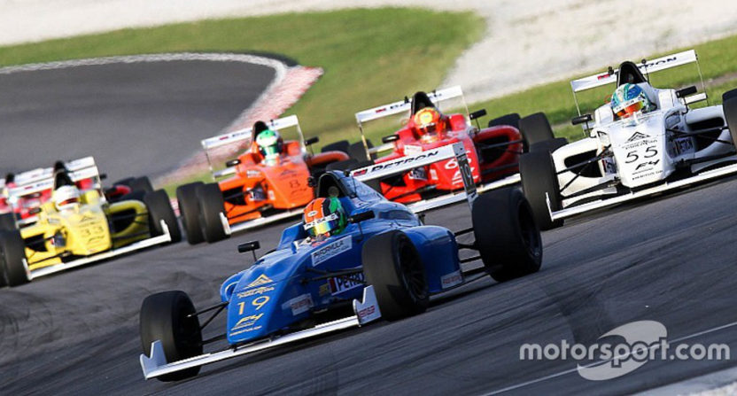 Fuel issues meant no cars finished this Formula 4 race in Malaysia.