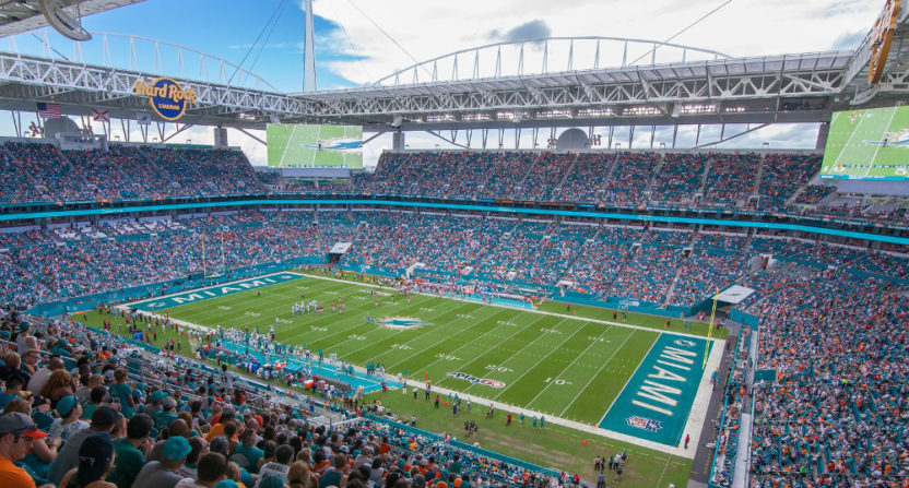 Hard Rock Stadium in Miami won't host the Dolphins and Bucs Sunday thanks to Hurricane Irma.