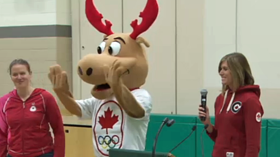 Komak The Moose, Canada's Olympic mascot.