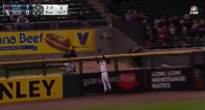 Nicky Delmonico made this great catch Wednesday.