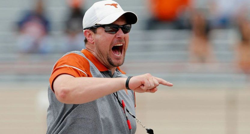 Texas head coach Tom Herman has a lot of work to do.