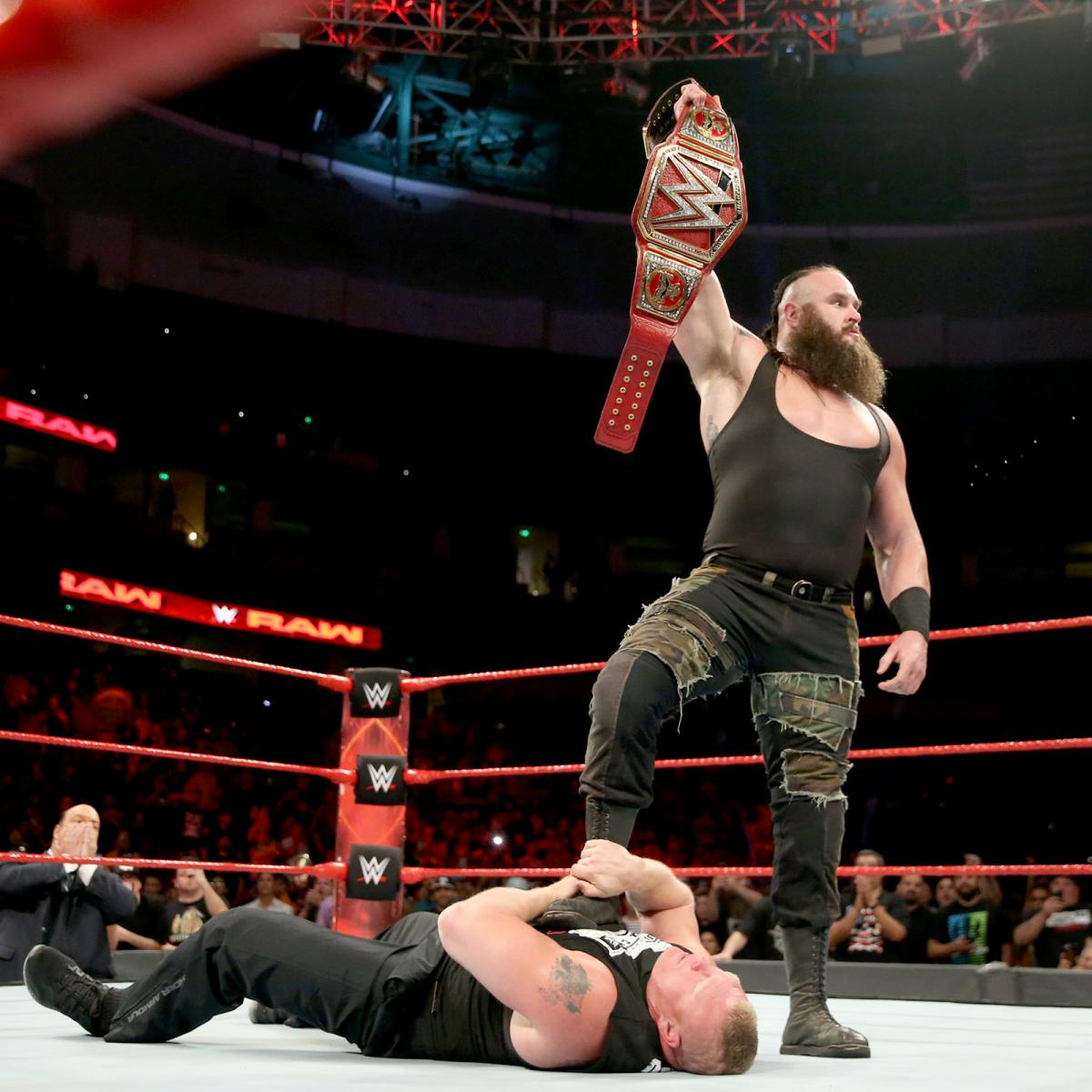 Randy Orton wins WWE US Title At Fastlane With A Powerslam