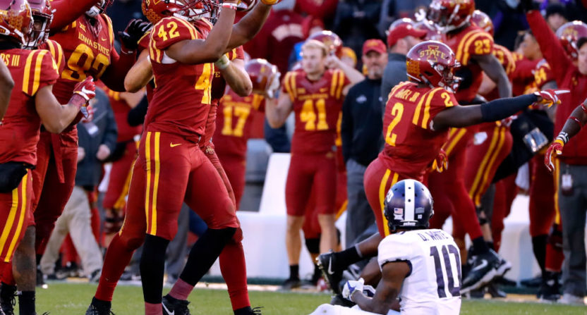 Iowa State LB Marcel Spears Jr. sealed their upset over TCU with this pick.