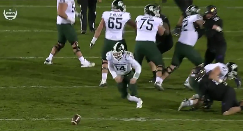 "Michigan State gave us a big ""Sparty, No!"" Saturday against Northwestern."