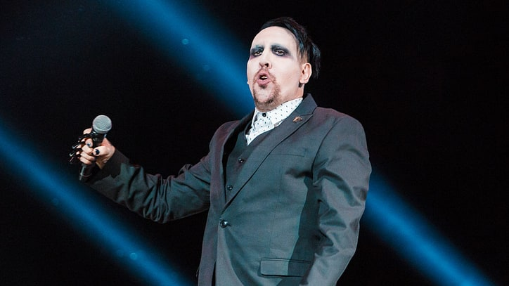Marilyn Manson injured by falling prop at NYC show