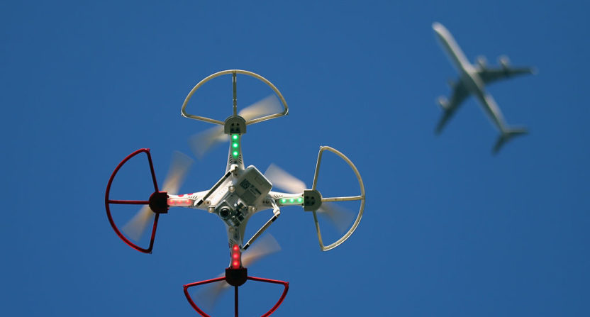Drone drops leaflets over football stadiums, raising security concerns