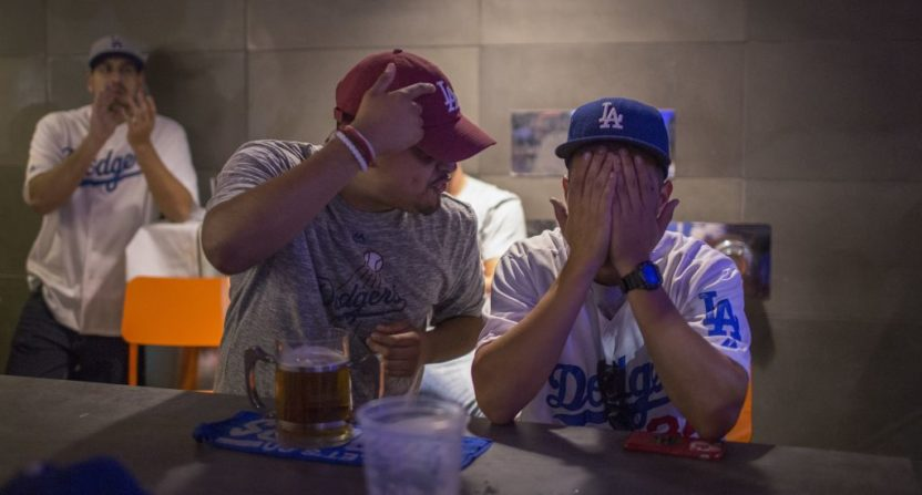 Dodgers' fans were unhappy about the team's Game 7 loss.