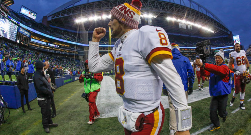 Kirk Cousins and the Redskins had their share of football follies, but still wound up on top Sunday.