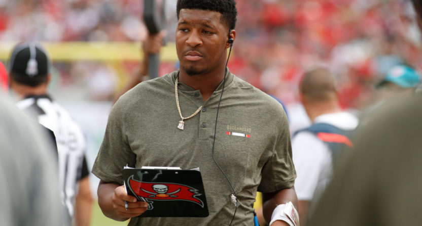 NFL's Jameis Winston denies claim that he groped Uber driver
