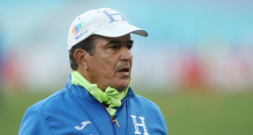 Honduras coach Jorge Luis Pinto has accused Australia of drone espionage.