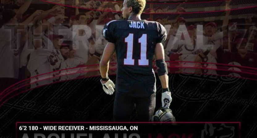 SMU receiver Archelaus Jack is at the center of a Canadian eligibility controversy.