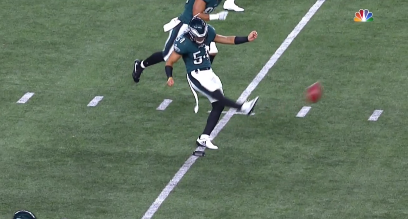 Kamu Grugier-Hill Proves Everyone Wrong as … Eagles' Kicker