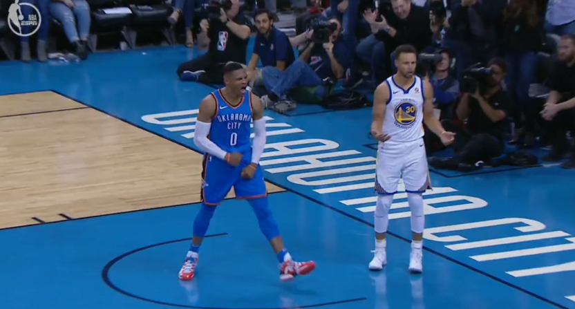 Russell Westbrook and Steph Curry
