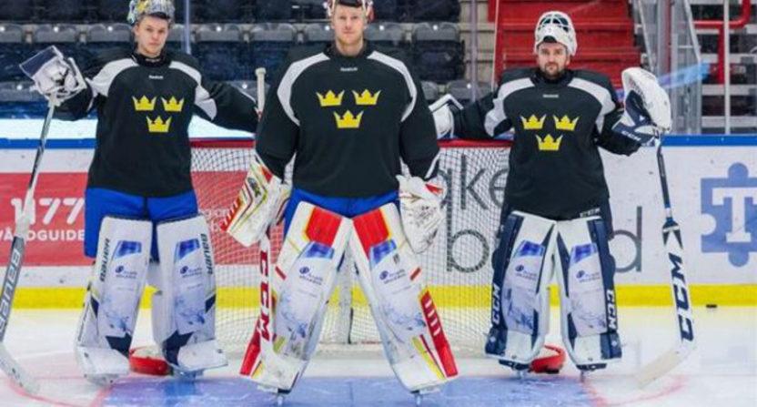 Swedish goalies shampoo pads