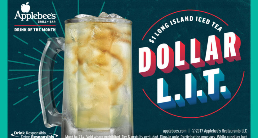 Applebee's offering $1 Long Island iced teas in December