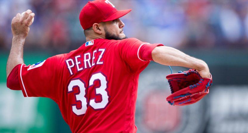 Rangers P Martin Perez has surgery on non-pitching elbow