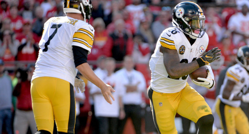 ben roethlisberger-leveon bell-pittsburgh steelers-nfl inactives