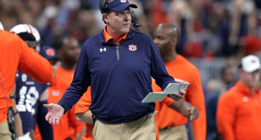 Gus Malzahn responds to the speculation he will leave for Arkansas