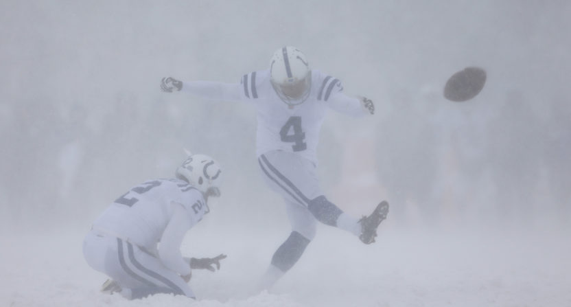 Adam Vinatieri may lose $500000 because of Colts' snow game in Buffalo