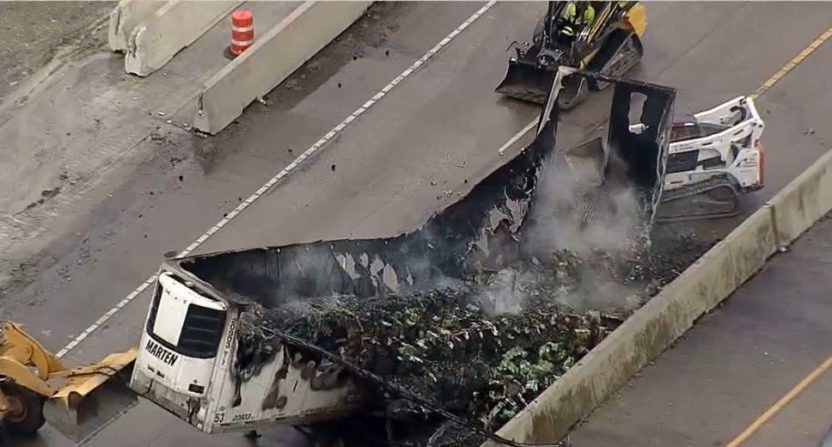 A truck of avocados caught fire in Texas.