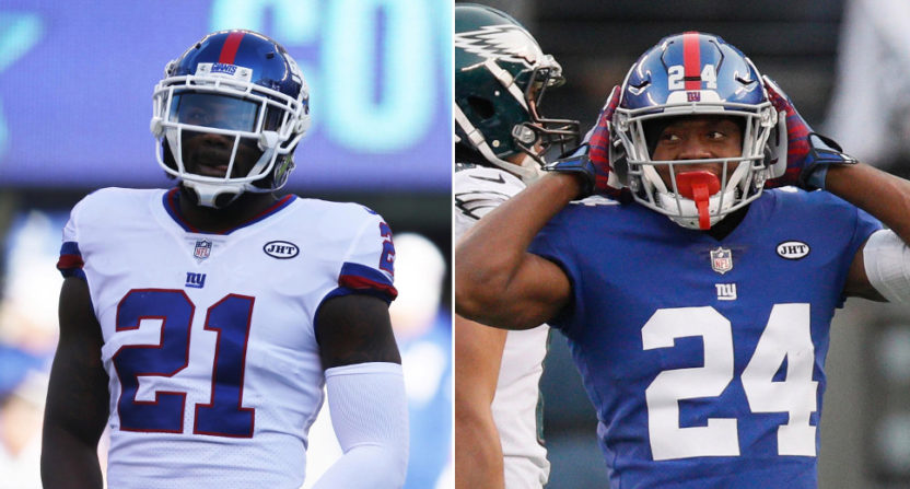 Giant mess: Landon Collins calls current teammate Eli Apple 'a cancer'
