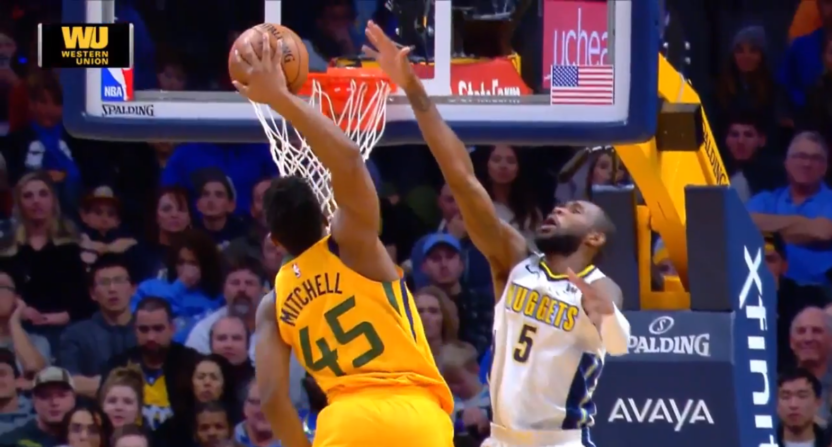 Donovan Mitchell Throws Down A Ridiculous Dunk On The Nuggets