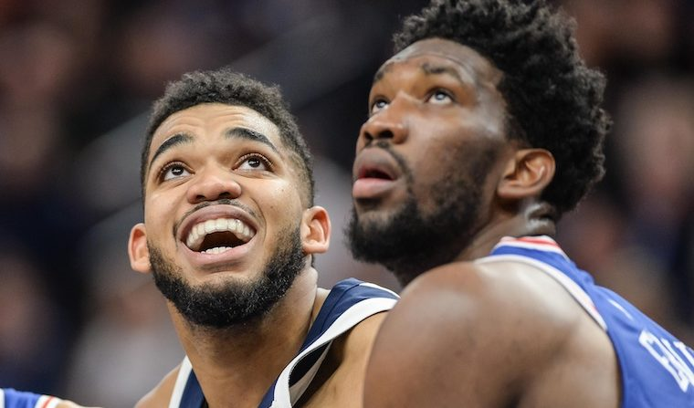 Joel Embiid and Karl-Anthony Towns Talk Trash on Instagram