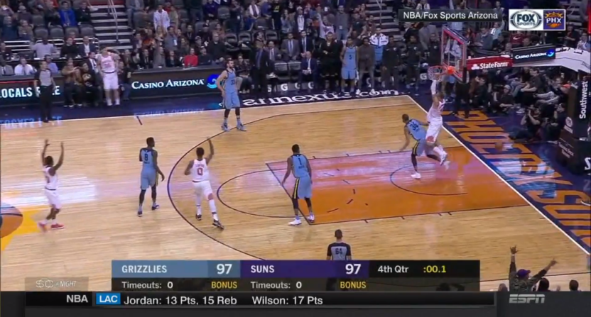 Suns rely on little-known rule to slam Grizzlies in final second