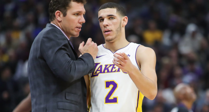 lonzo ball-lavar ball-luke walton-los angeles lakers