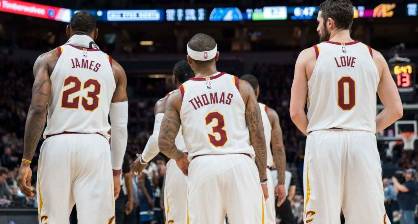 cleveland cavaliers-kevin love-lebron james-isaiah thomas