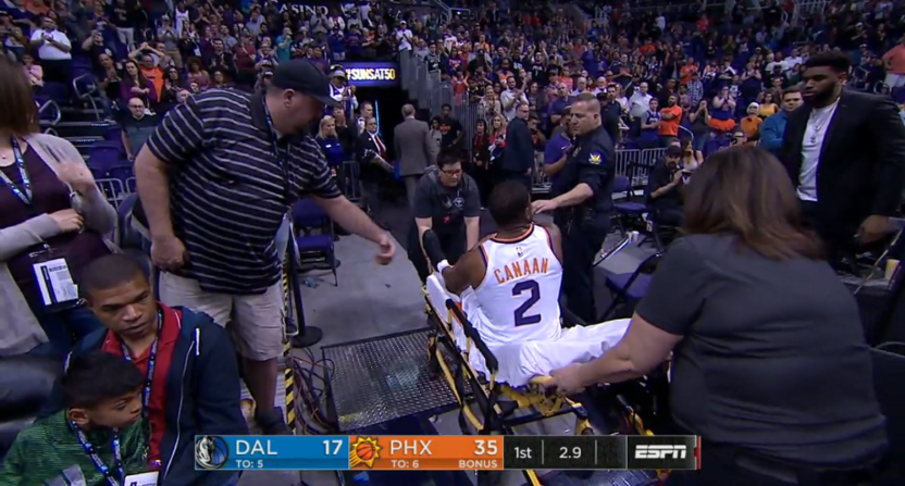 Isaiah Canaan Fractured His Ankle In Gruesome Fashion Against The Mavs