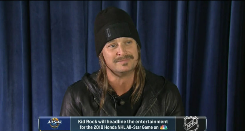 Kid Rock was announced as the featured NHL ASG act.