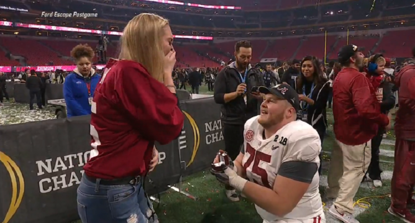 Alabama Center Bradley Bozeman Gets Engaged After Winning National Championship