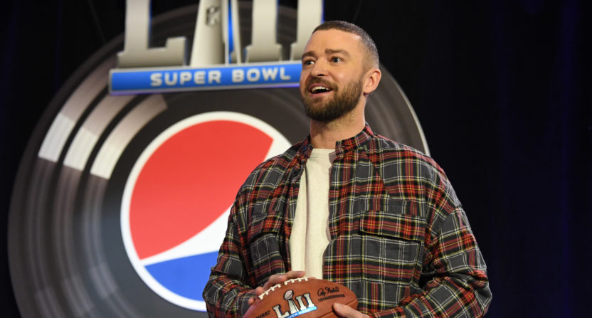 Justin Timberlake will be part of the Super Sunday spectacle