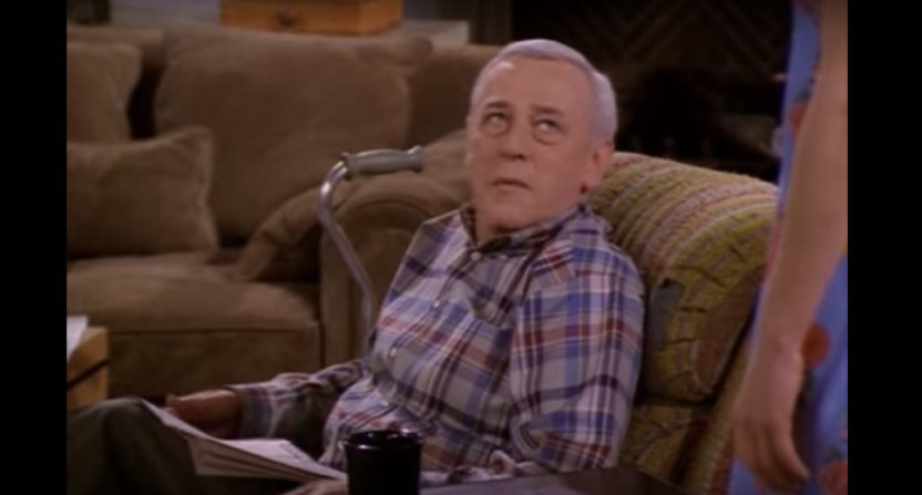 John Mahoney as Martin Crane.
