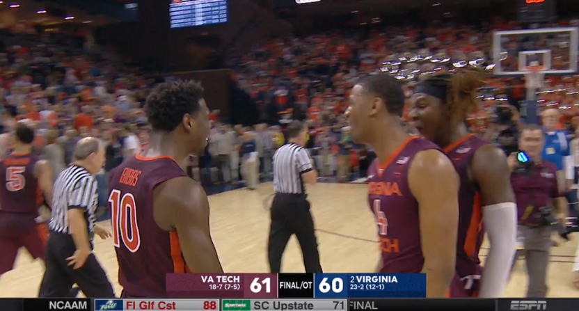 Virginia Tech stuns No. 2 Virginia for road upset