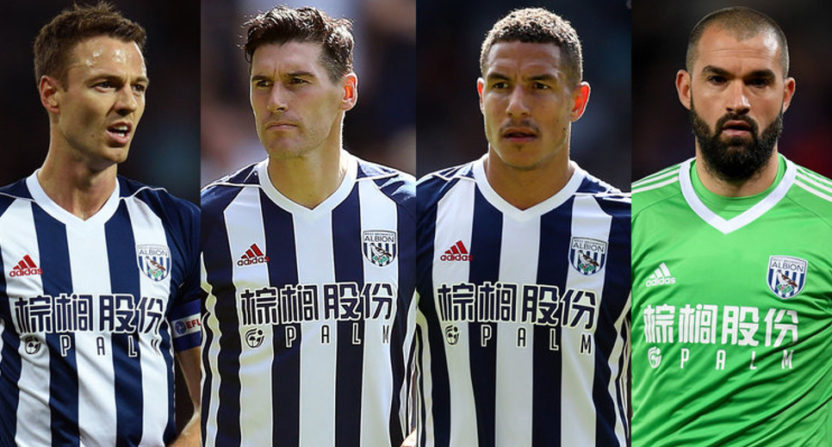 West Brom's Jonny Evans, Gareth Barry, Jake Livermore and Boaz Myhill are accused of stealing a taxi in Barcelona.