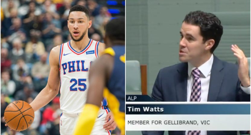 Aussie Parliament member sounds off on Ben Simmons snub