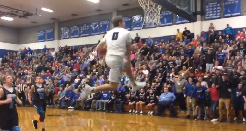 "Georgetown 6'2"" commit Mac McClung pulls off between-the-legs dunk in-game, busts out an MJ shrug"