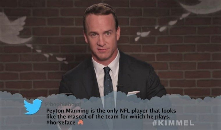 Travis Kelce, Aqib Talib among those featured in Jimmy Kimmel's 'Mean Tweets'