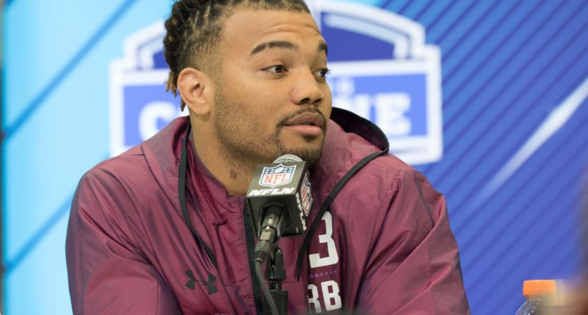 Derrius Guice asked if he liked men sexually at NFL Combine