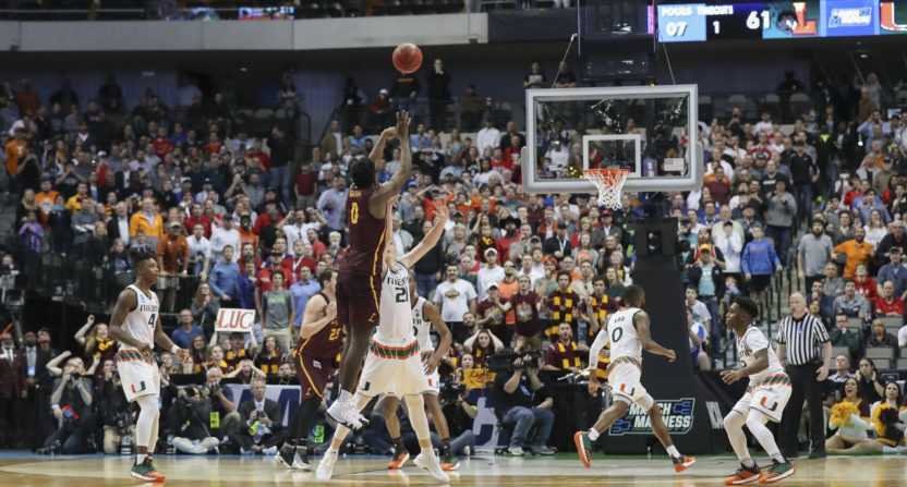 Watch: Loyola's Donte Ingram Sinks Clutch Three Pointer to Upset Miami
