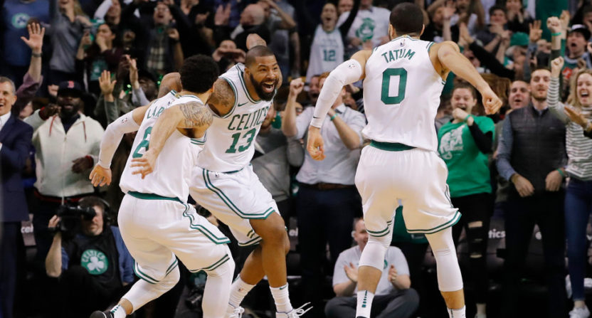 The Celtics pulled off an incredible comeback Tuesday night.