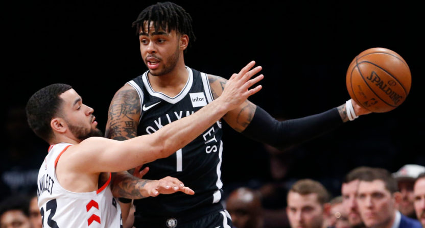D'Angelo Russell takes on Fred Van Vleet.