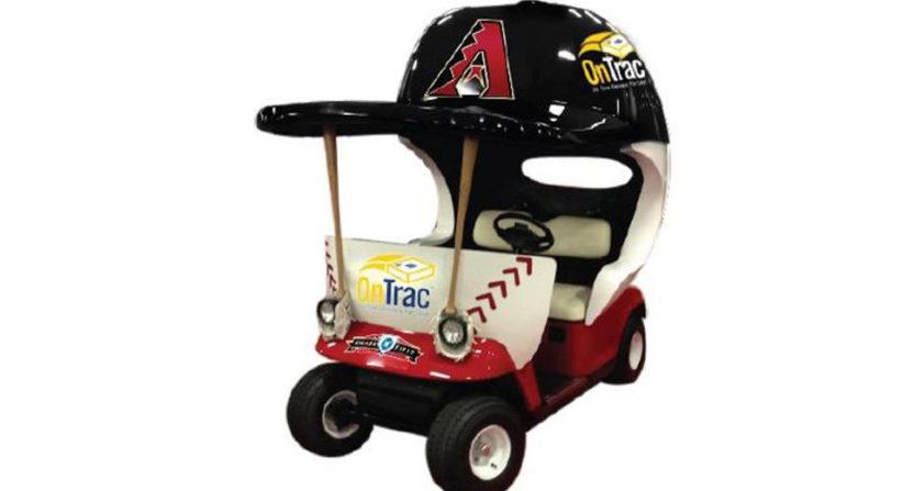 The Diamondbacks' forthcoming bullpen cart.