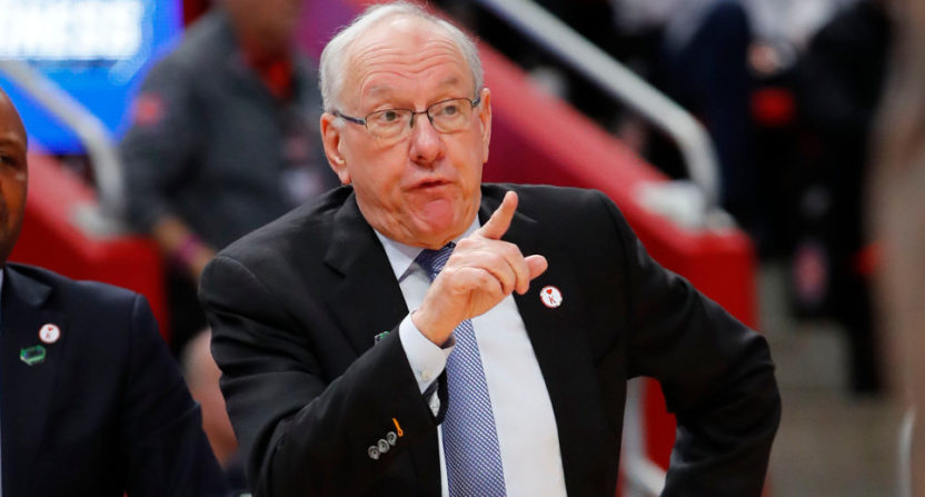 Syracuse coach Jim Boeheim against Michigan State.