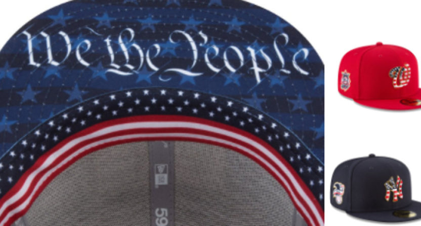 We The People MLB caps.