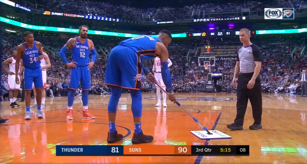 Russell Westbrook Drops 43 Points On Suns And Literally